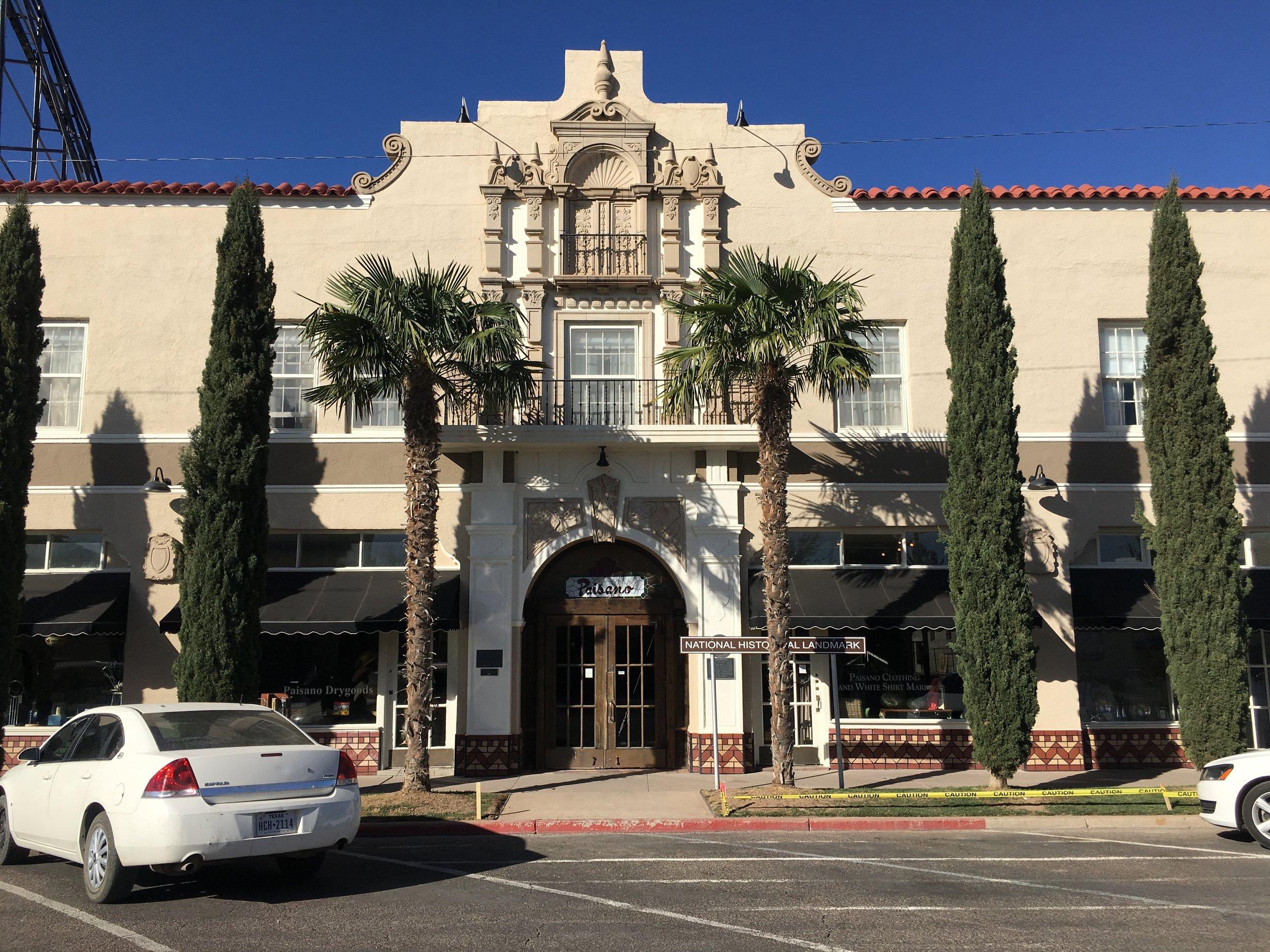 The historic Hotle Paisano, Marfa, Texas