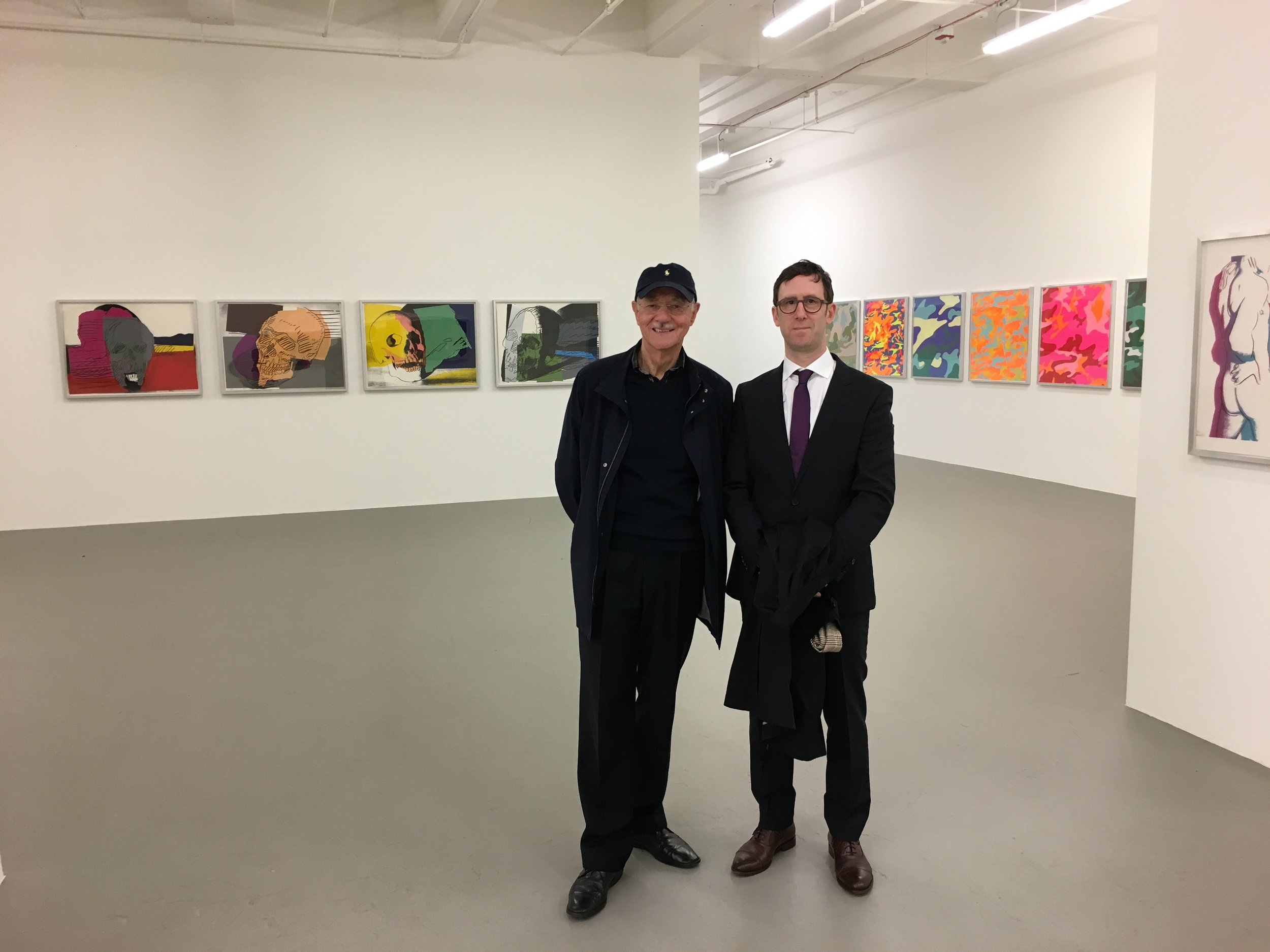 Mr. Karlheinz Essl and John Silvis at the Ayn Foundation, Mana Contemporary