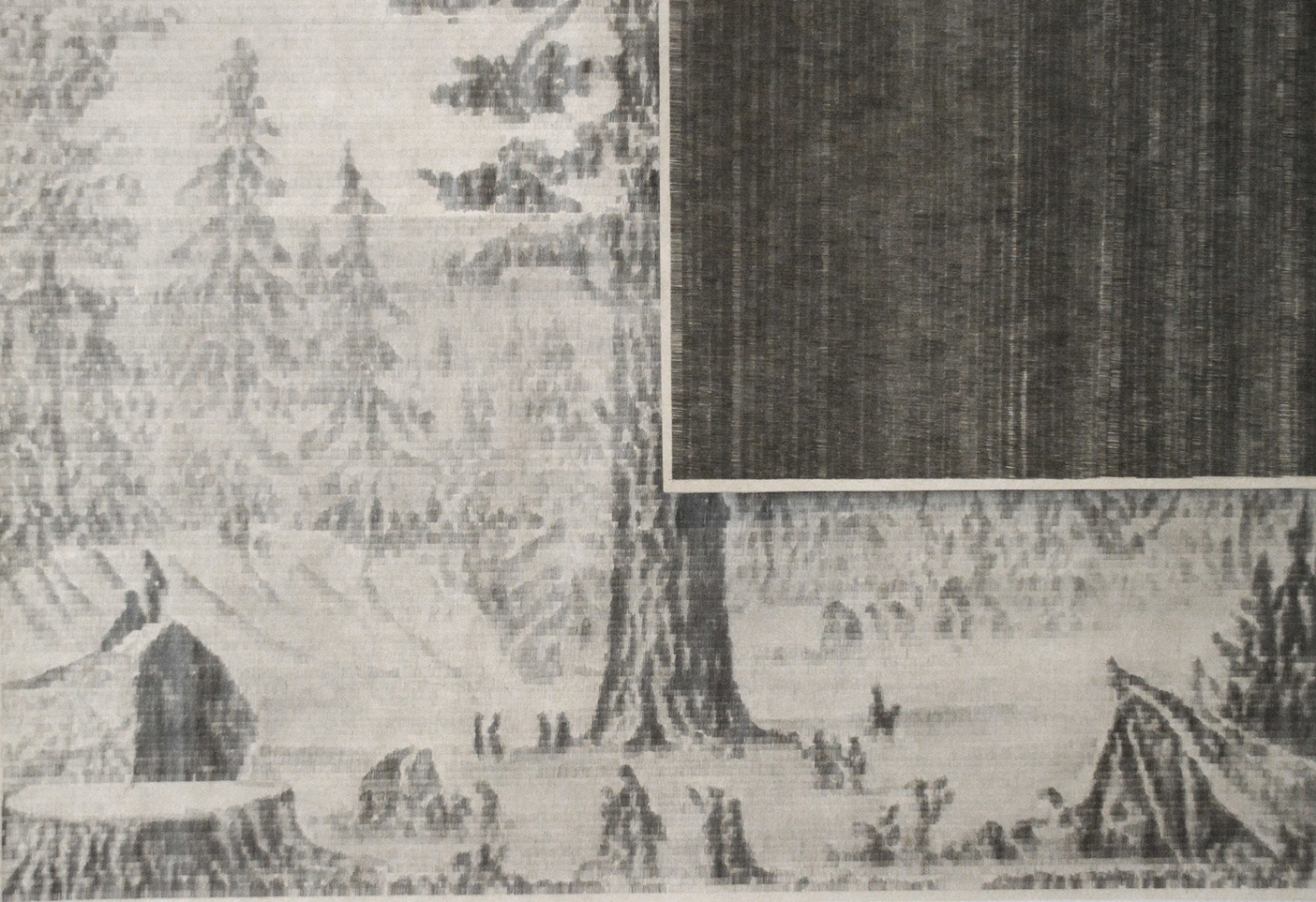 Arbol  (detail of diptych), 2014, Mechanical pencil on newsprint. 45 x 59 inches. Image courtesy of the artist.