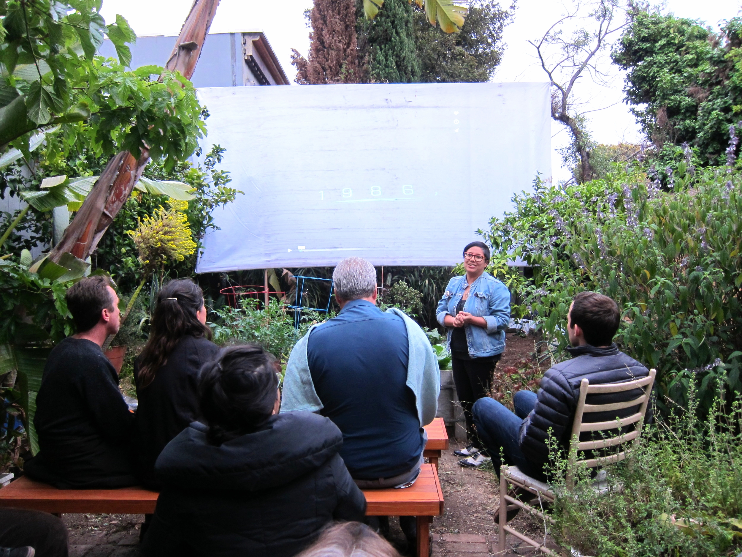 Curator Dorothy Santos at the Film Salon at Random Parts