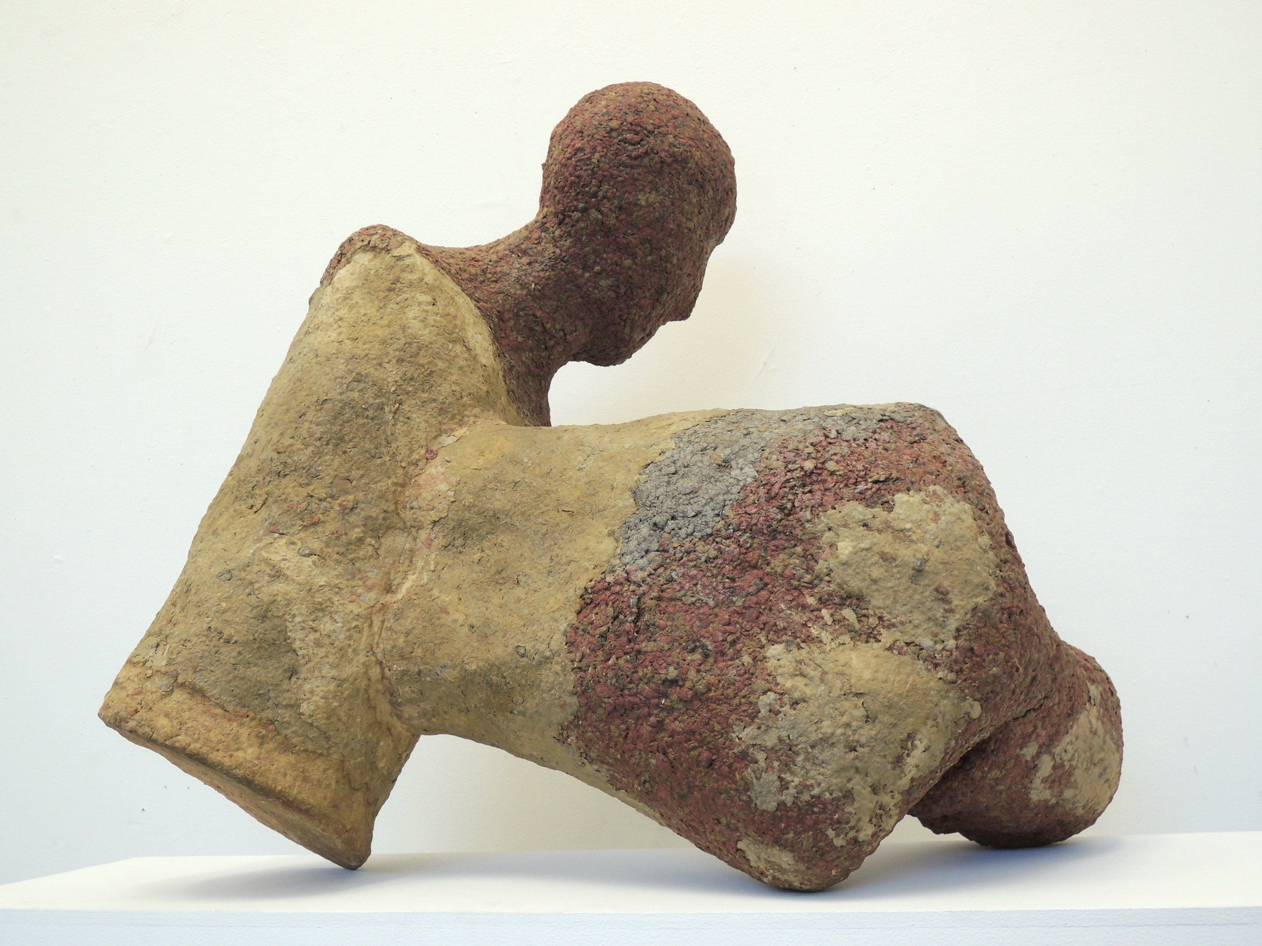 Carmen Lang, Brothers ,Paper maché, clay 32 x 36 x 20 inches,2013