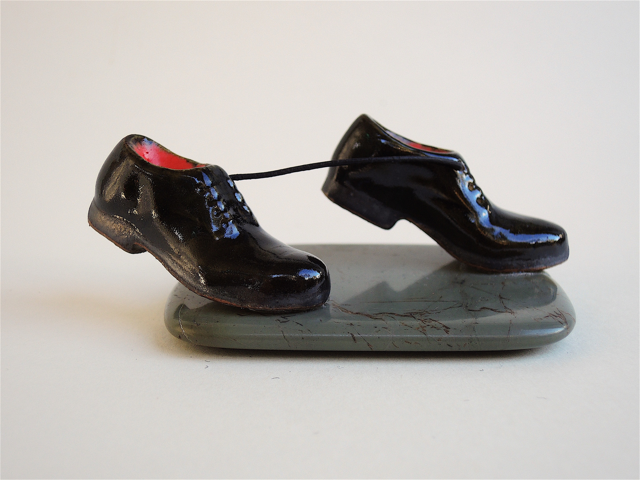 Carmen Lang, Shoe therapy ,Stoneware,1 ½ x 2 x 4 inches,2015