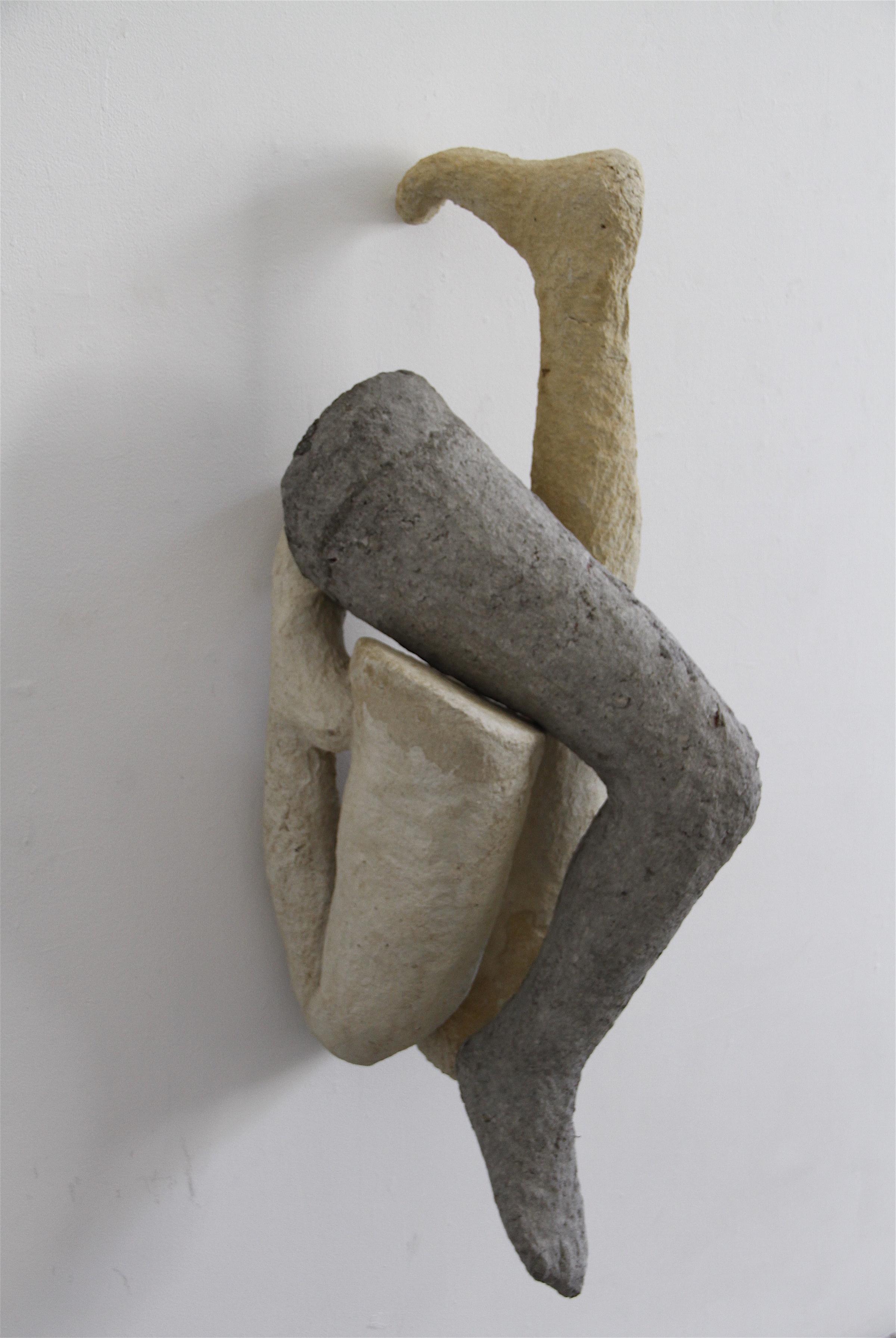 Carmen Lang,  Trio ,Paper maché, clay 38 x 14 x 19 inches, 2013