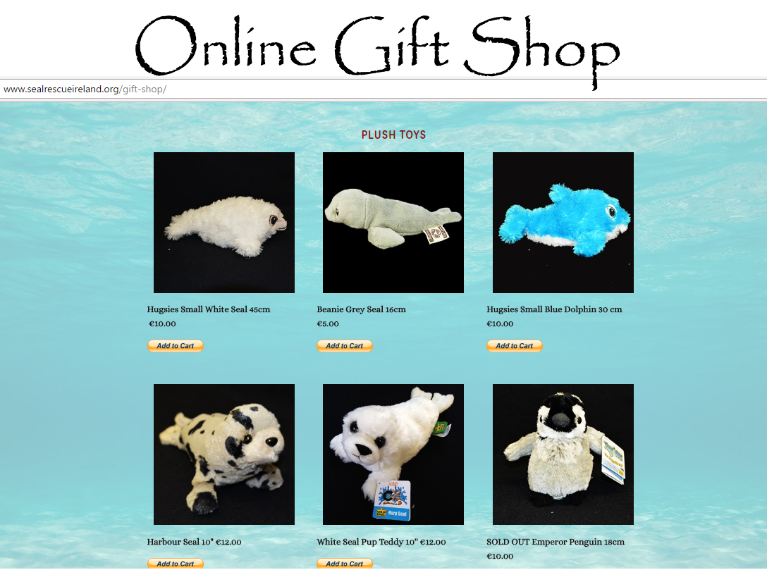 Online Gift shop with loads to choose from! We also have Gift Certificates for use in our centre gift shop only - please call 087 195 5393 to purchase.
