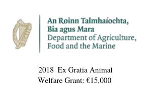 2018 Ex Gratia Animal Welfare Funding: €15,000