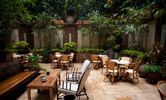 The Courtyard at The Greenwich Hotel, TriBeCa