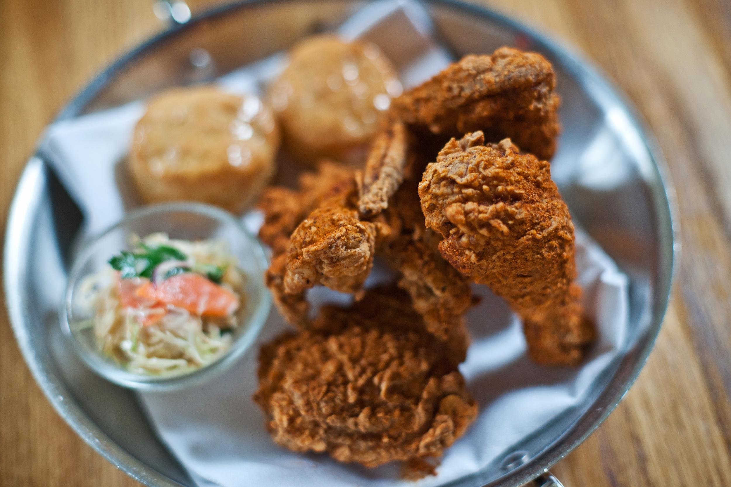 Hot Fried Chicken & Honey Butter Biscuits