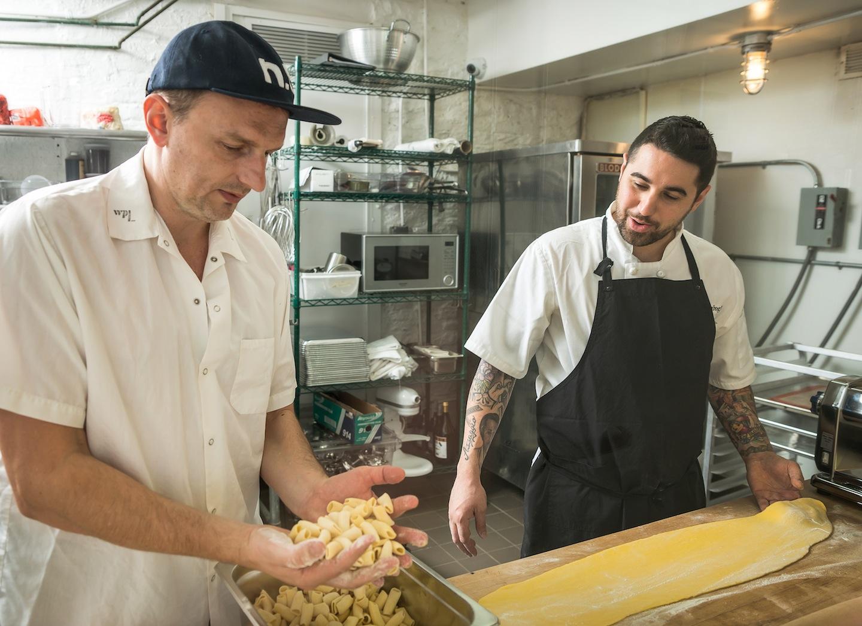 Chef-Partner Sal Lamboglia with Chef Andrew Carmellini