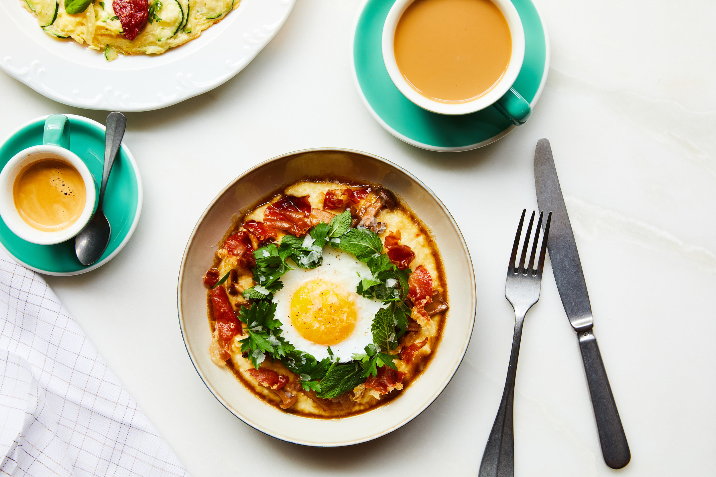Creamy Polenta with Fried Duck Egg