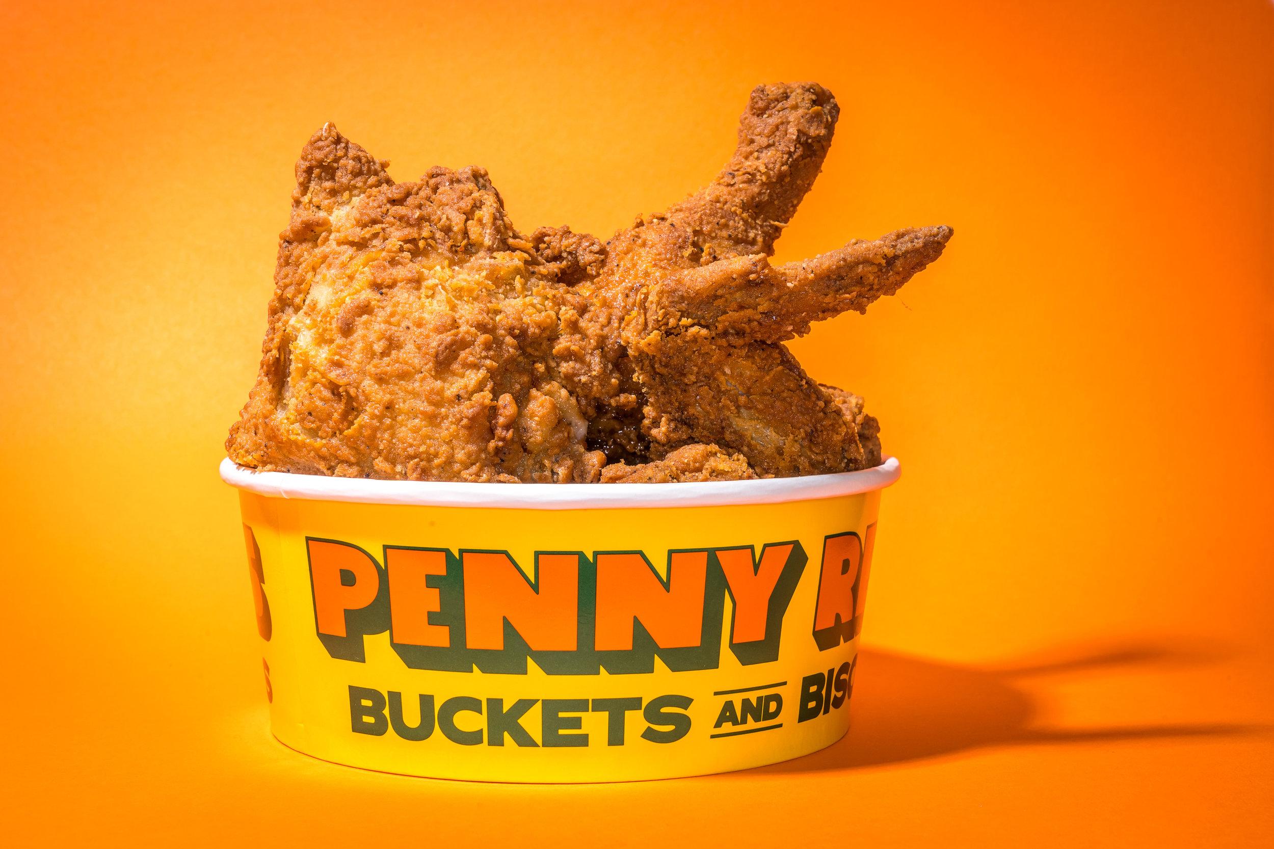 Bucket of Damn Fine Fried Chicken