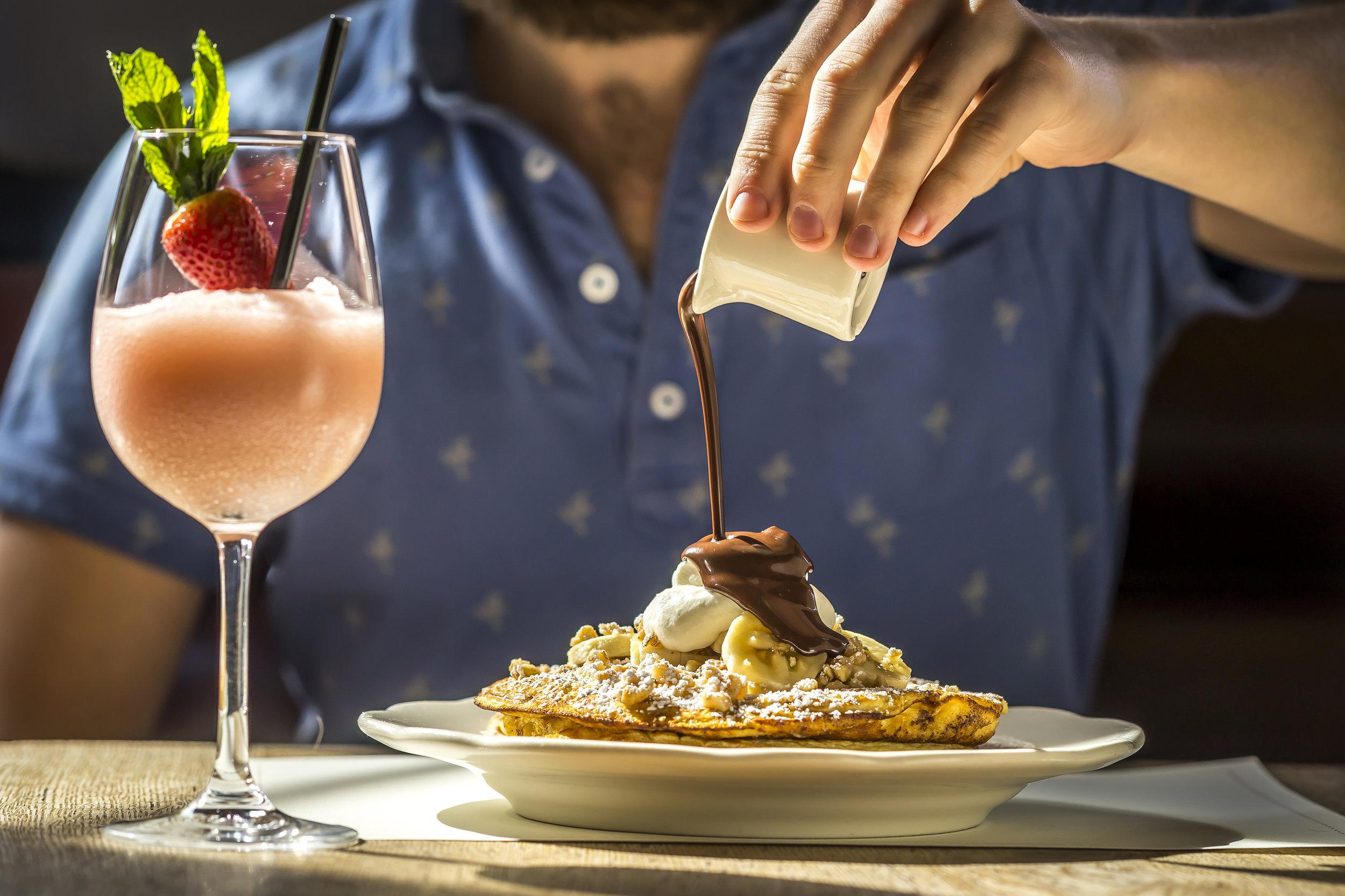 Ricotta Pancakes & Frosé