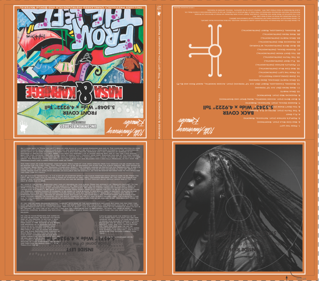 Digipack CD artwork that is off getting pressed up as we type.