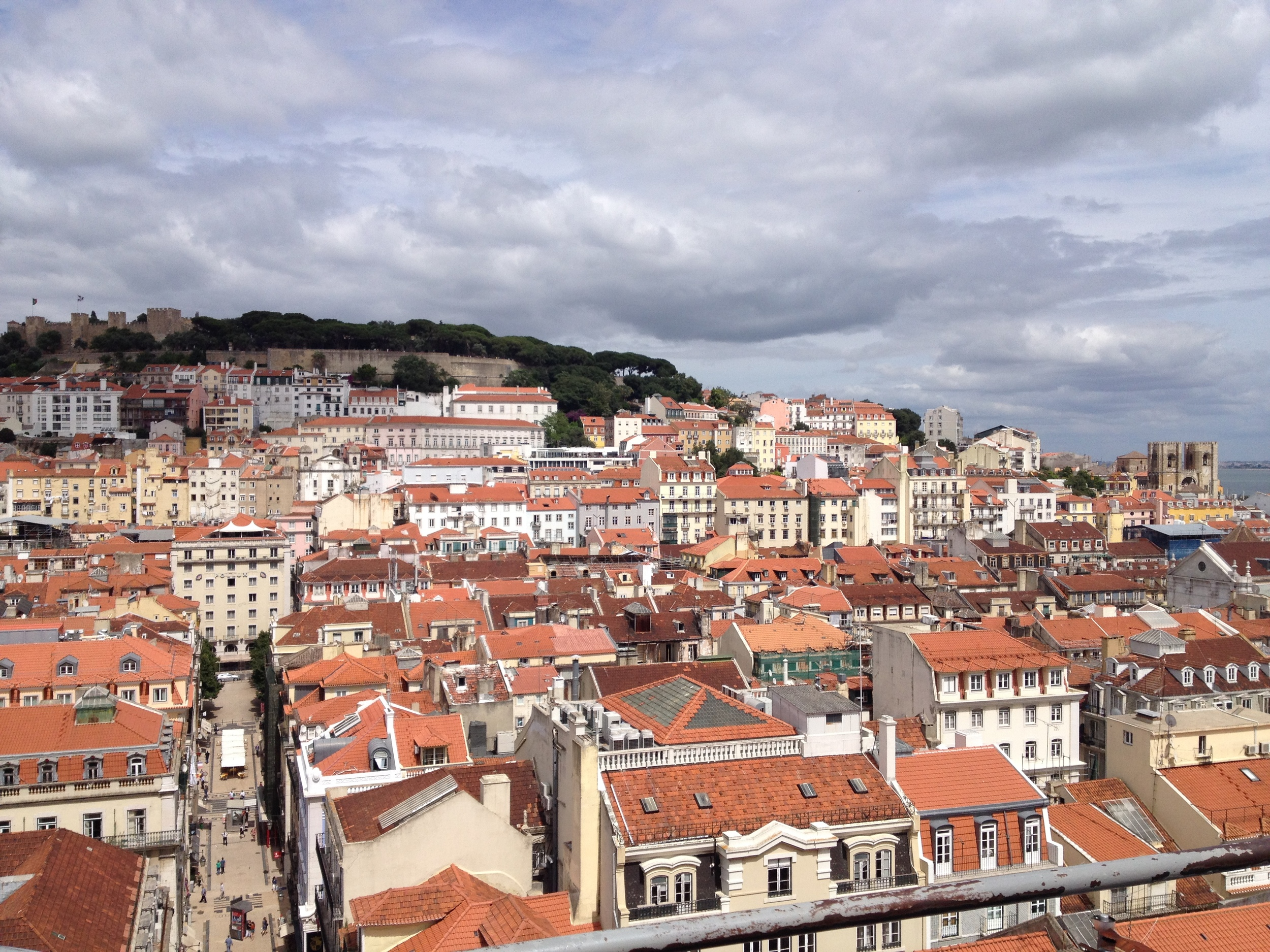 Top of Lisbon from the Santa Justa Elevator