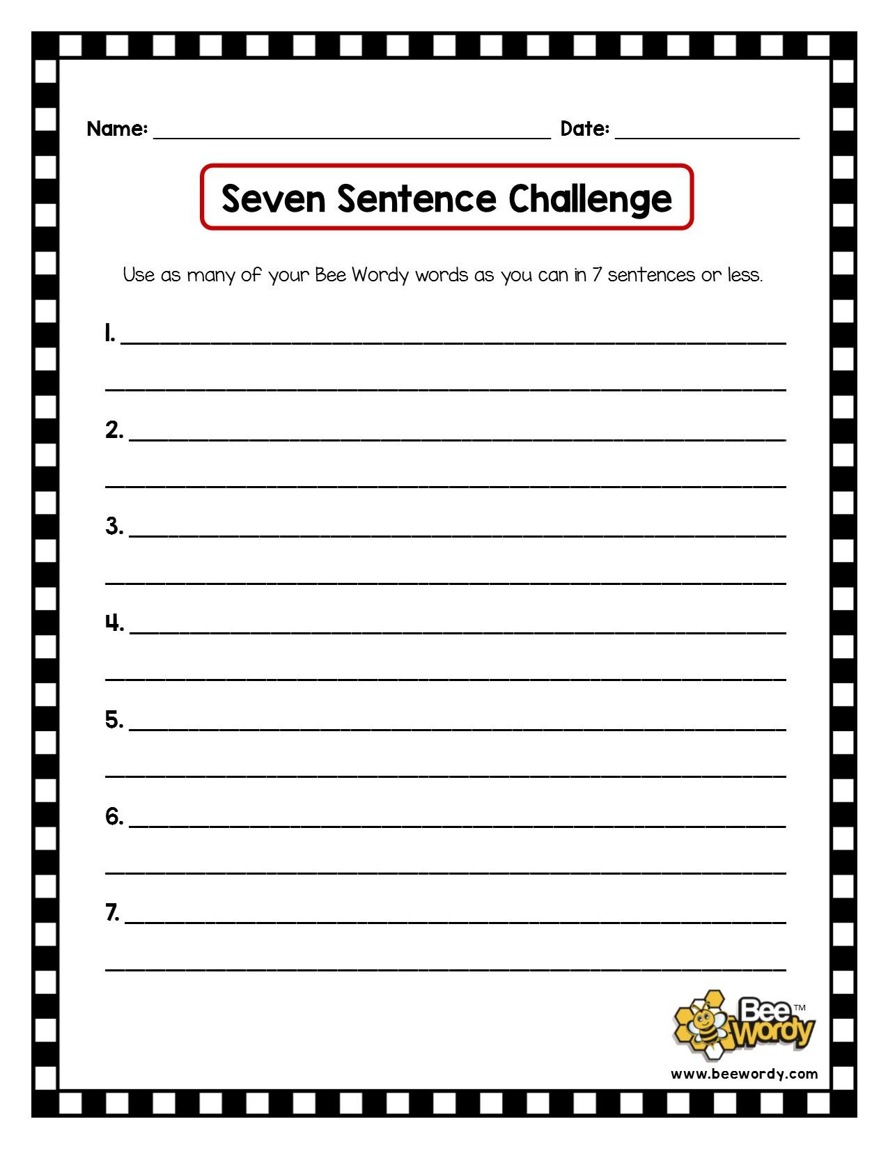 BW Seven Sentence Challenge.jpg