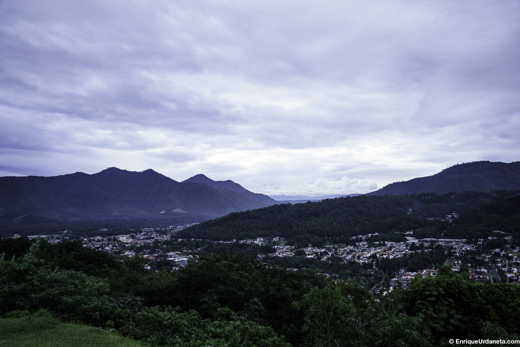 Vista de La Antigua desde la montaña