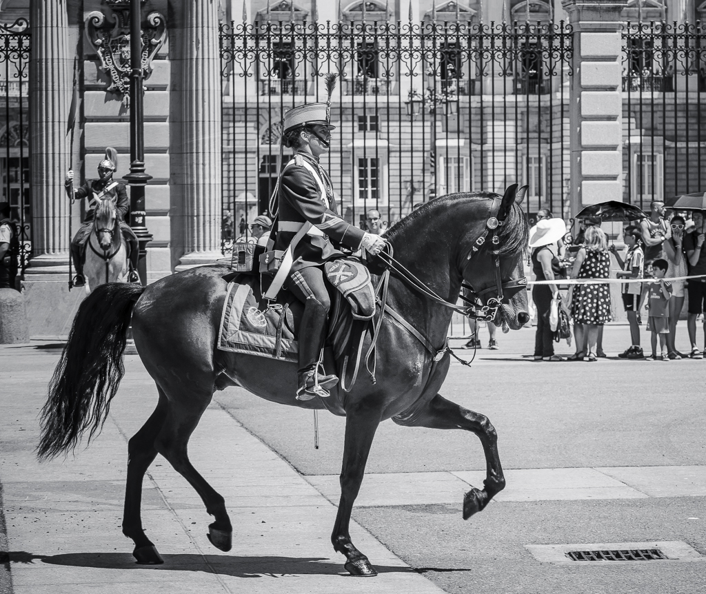 Relevo Solemne y Cambio de GuardiaReal, Palacio Real, Madrid, España