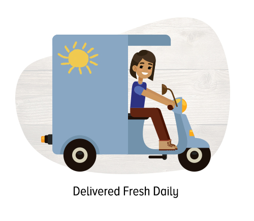 Delivered Fresh Daily
