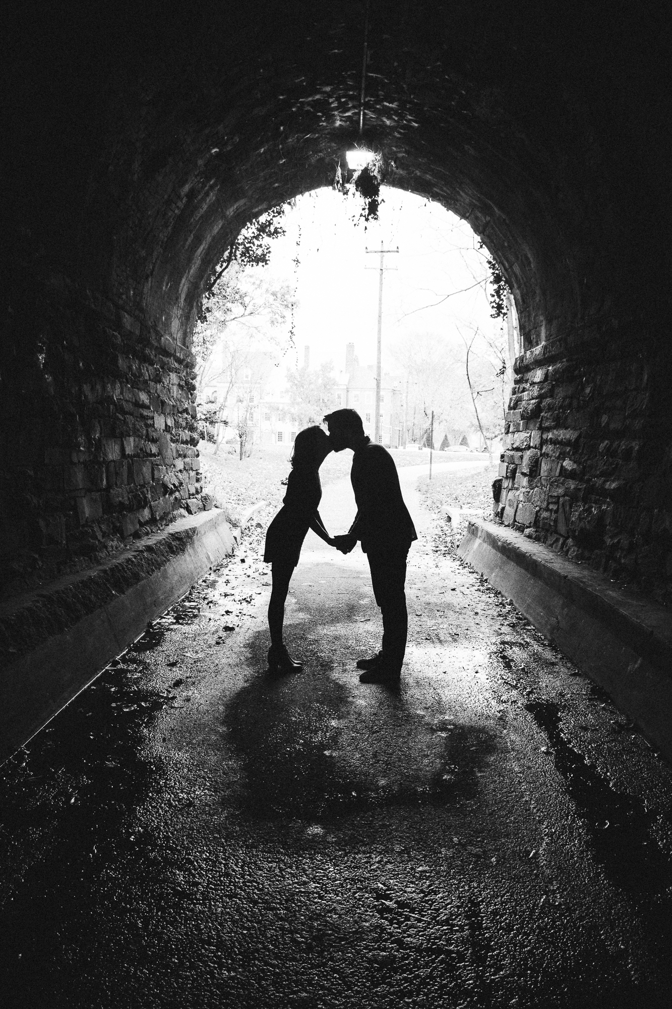 Wilkes Street Tunnel Engagement Couple Photo