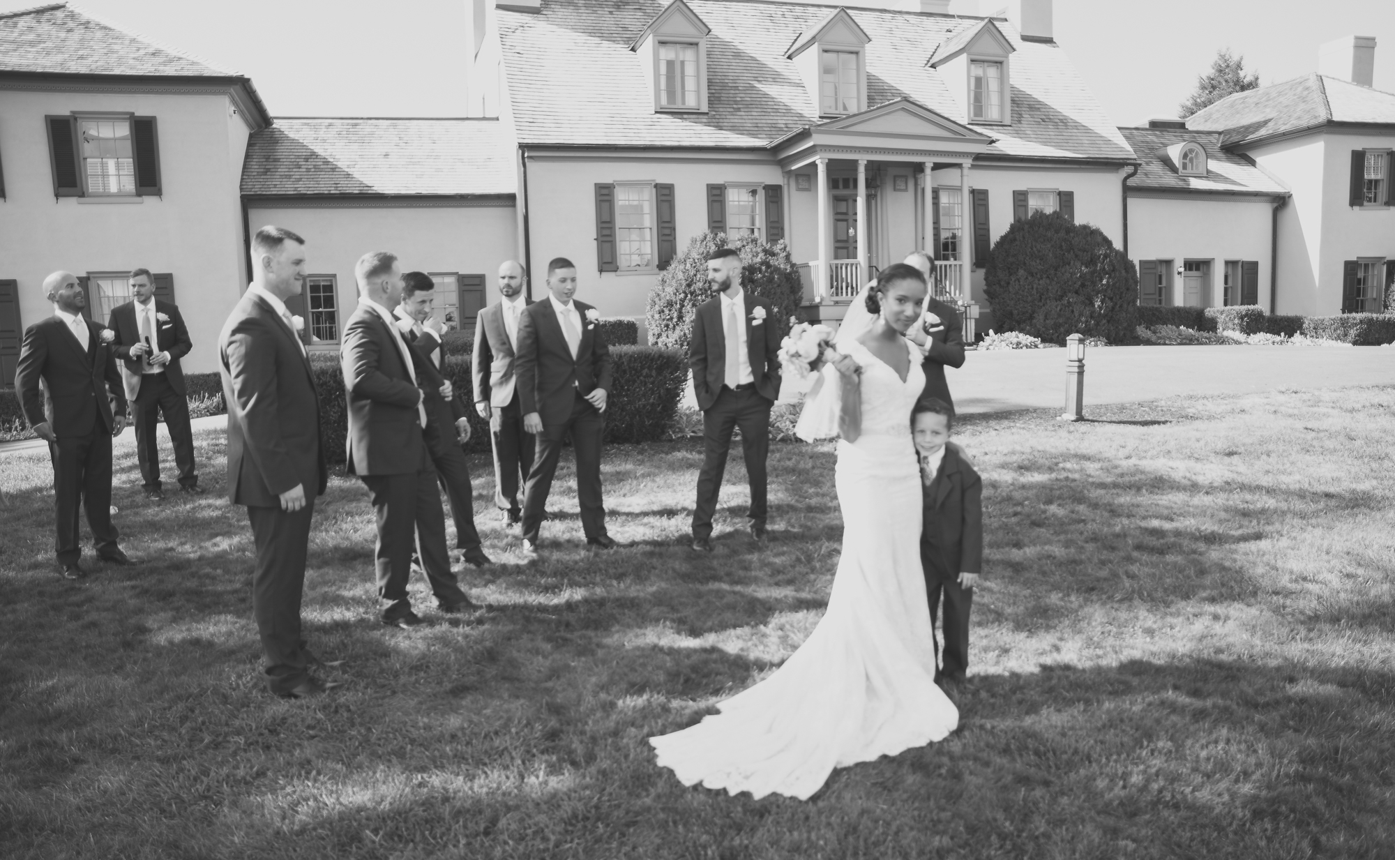 Belmont Manor & Historic Park Wedding Family Formal Photo