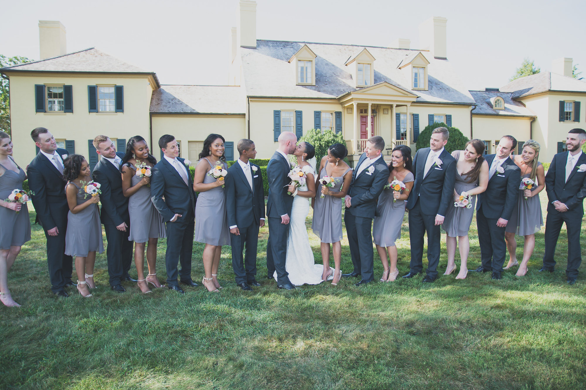 Belmont Manor & Historic Park Wedding Party Photo