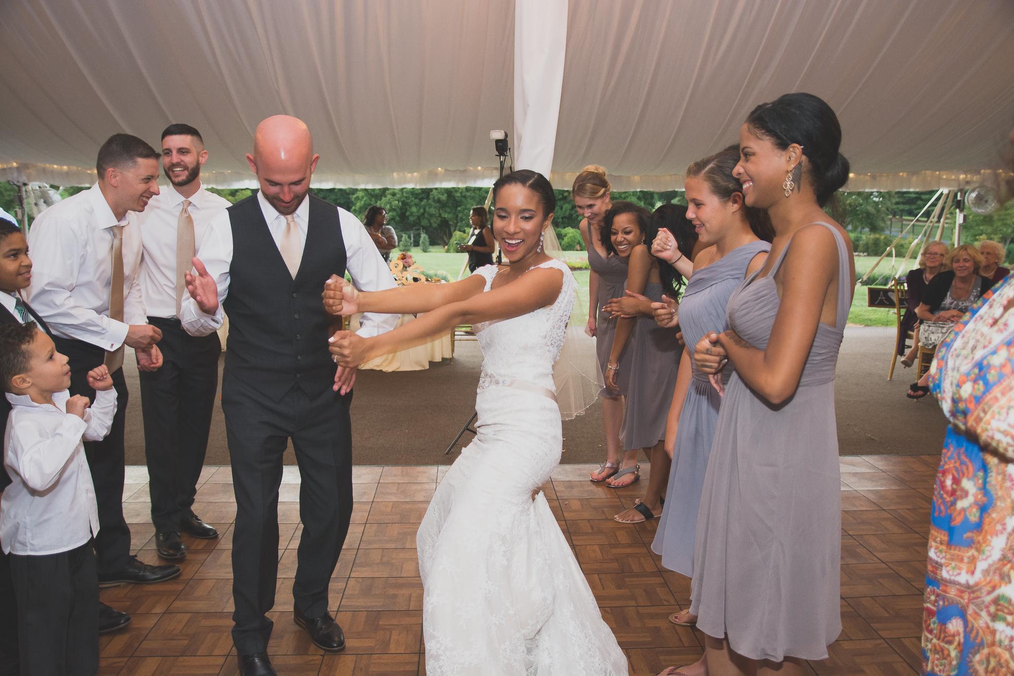 Belmont Manor & Historic Park Wedding Bride and Groom Ceremony Photo