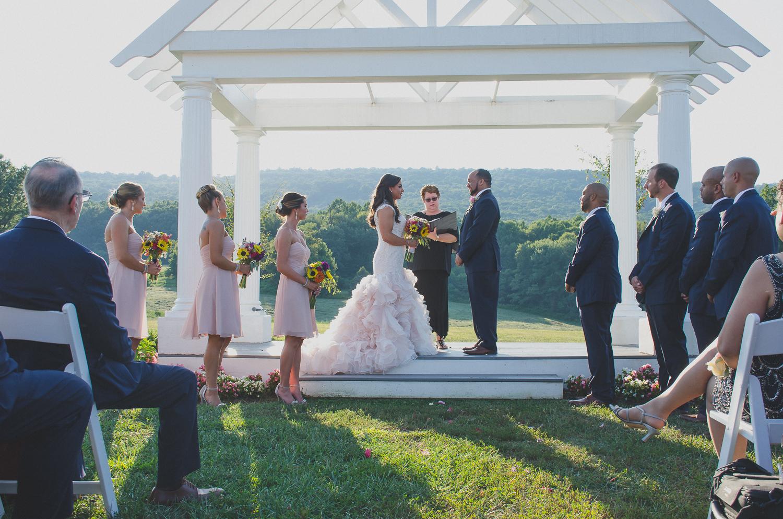 Springfield Manor Winery & Distillery Wedding Ceremony Photo