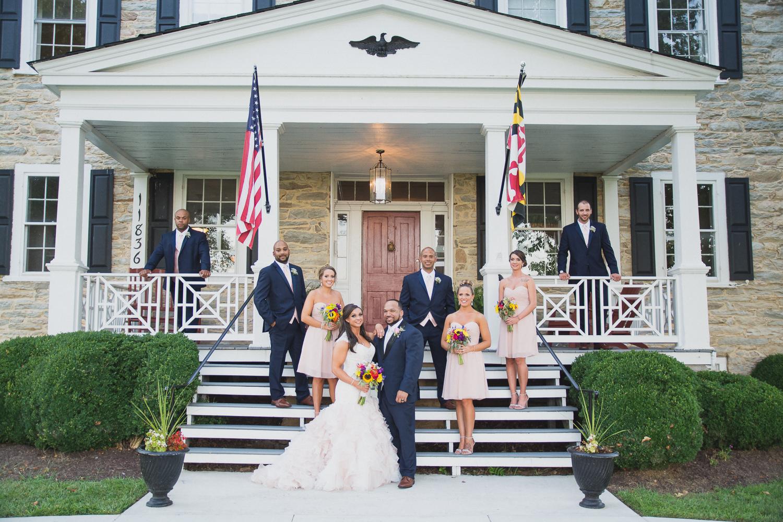 Springfield Manor Winery & Distillery Wedding Wedding Party Photo