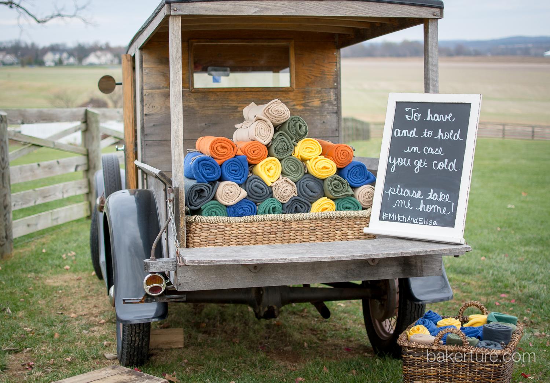Walker's Overlook Wedding vintage truck Photo