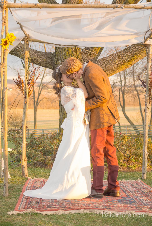 Walker's Overlook Wedding bride groom ceremony Photo