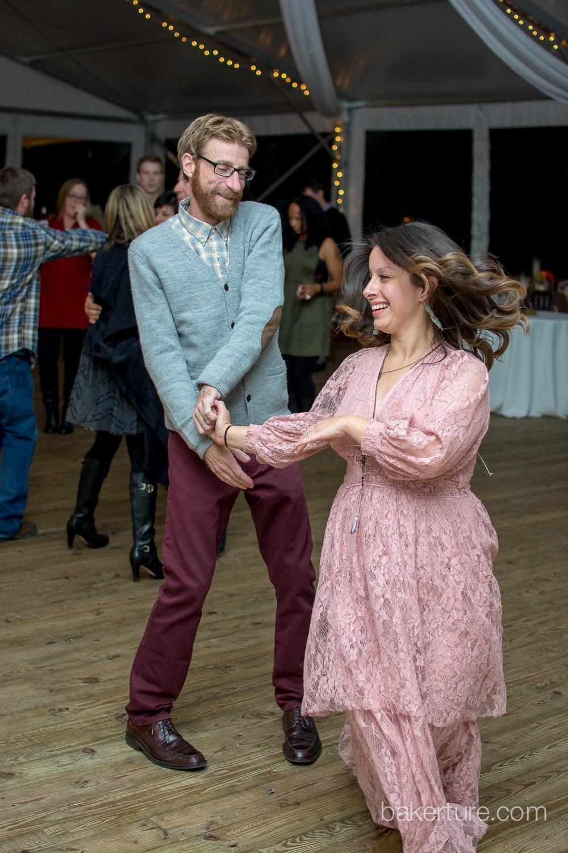 Walker's Overlook Wedding reception bride and groom dancing Photo
