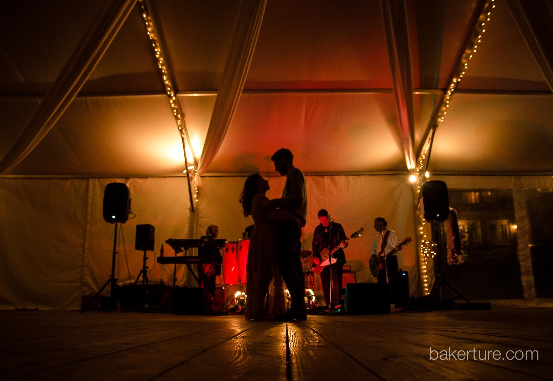 Walker's Overlook Wedding reception bride and groom Photo