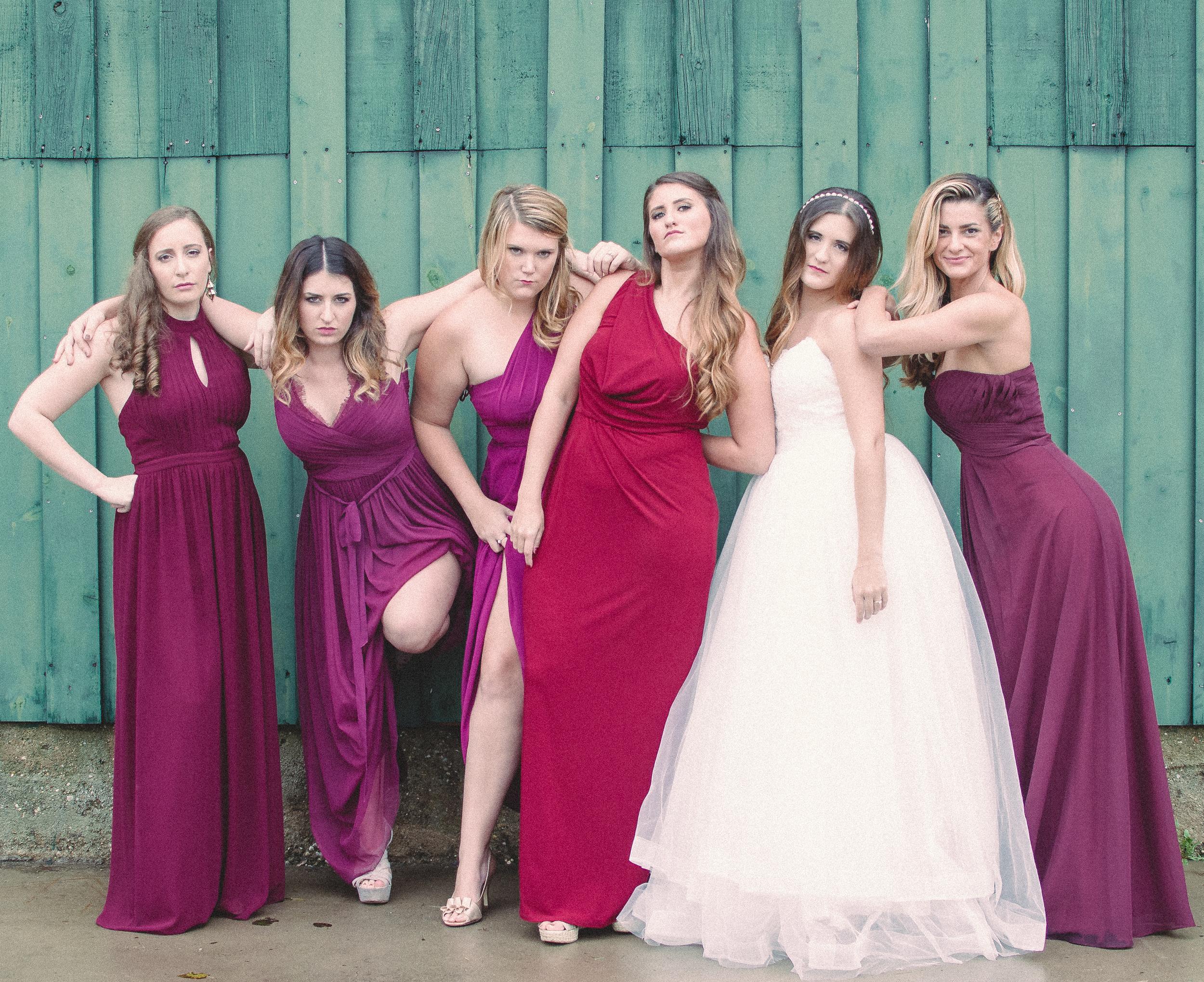 The Glasgow Farm Wedding bridesmaids Photo