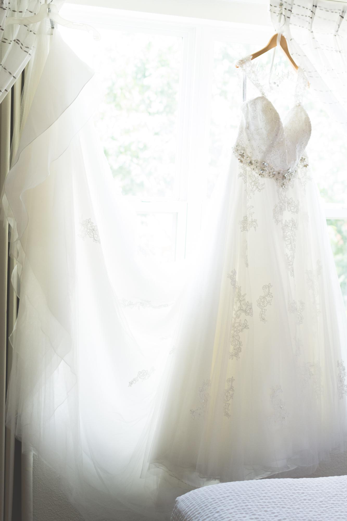 Wedding dress pre-ceremony