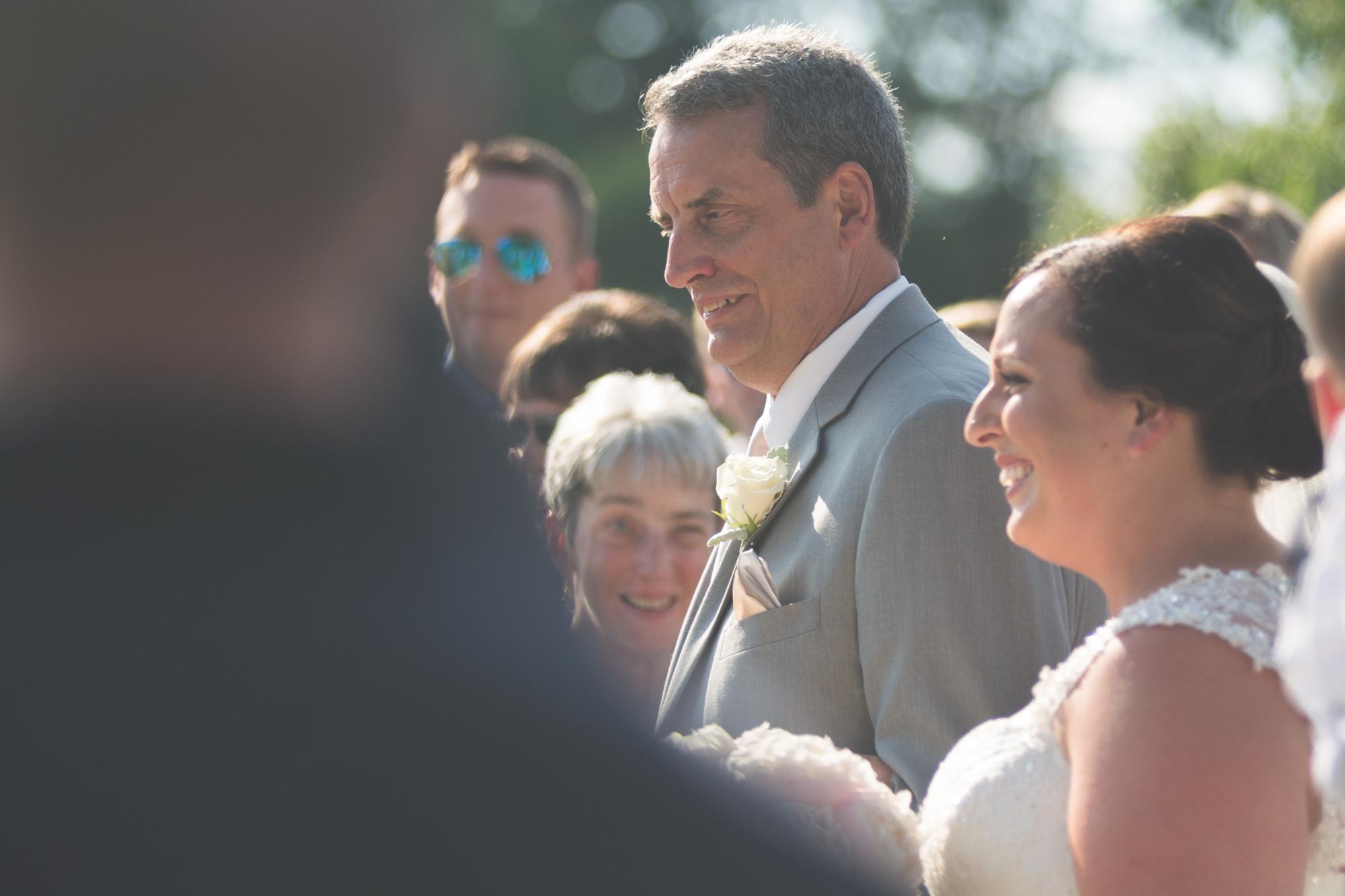 bride and dad walking to alter glen ellen farm