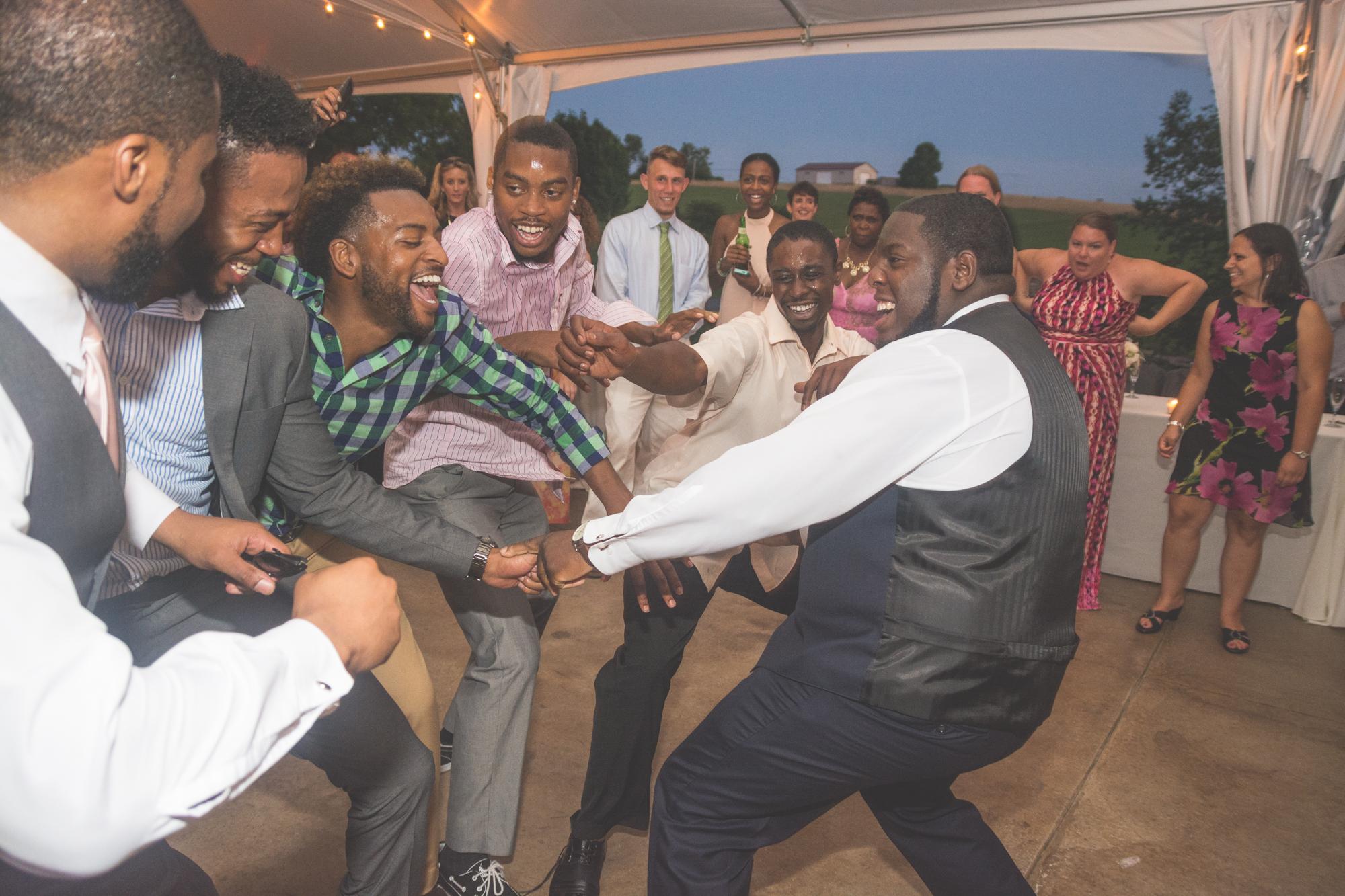 groom dancing reception glen ellen farm