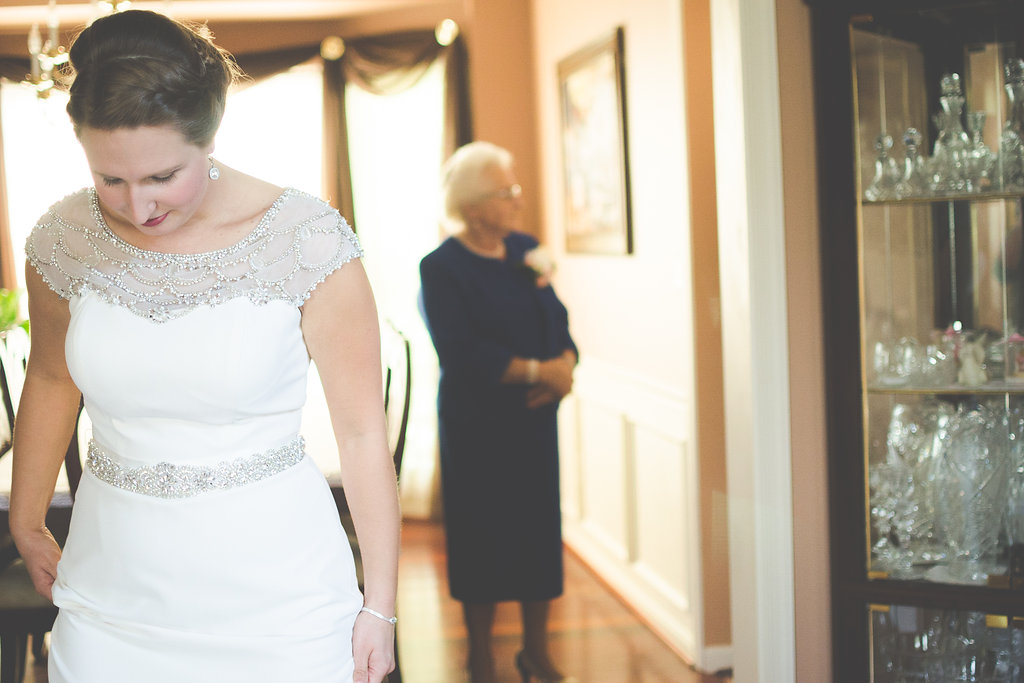 bride and grandmother portrait
