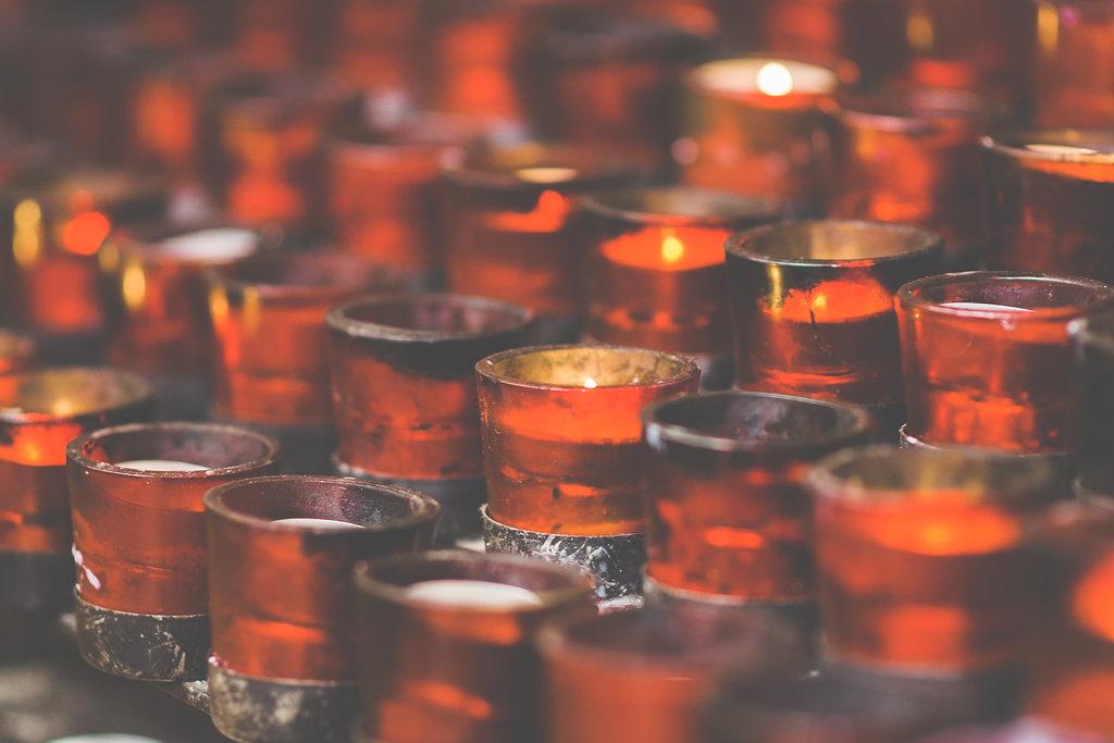 wedding ceremony candle photo