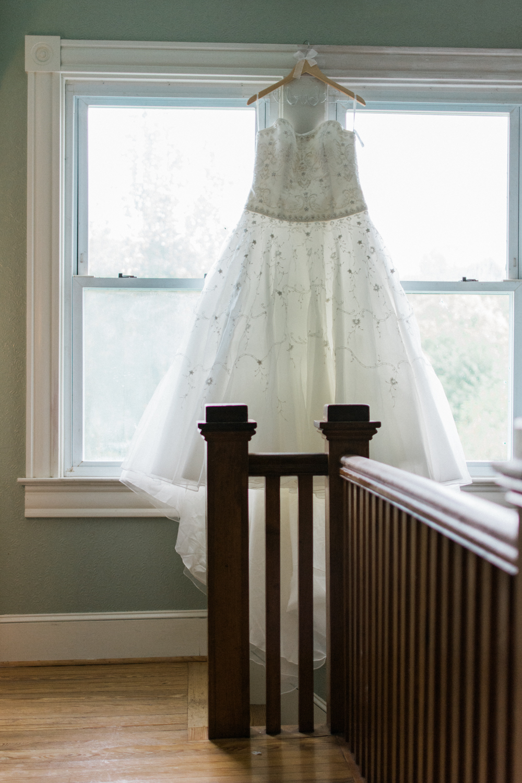 bride wedding dress portrait