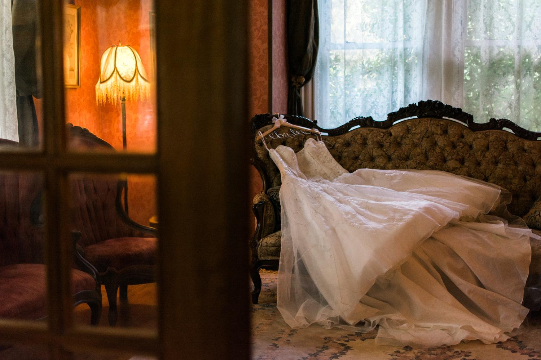 wedding dress portrait photo