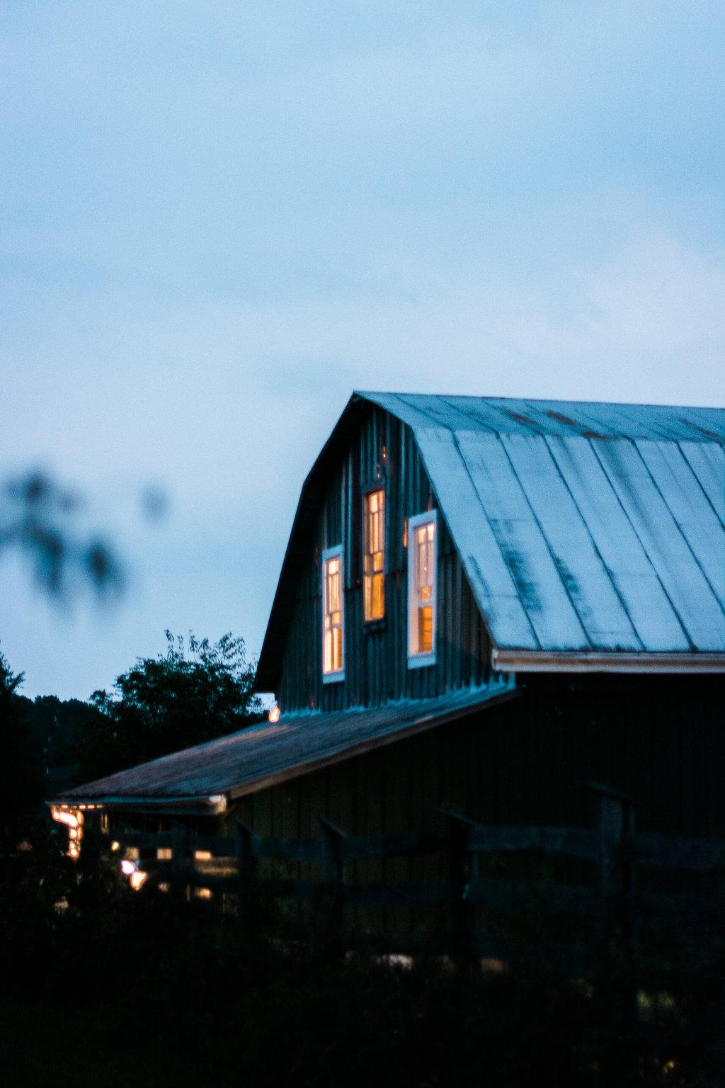 glasgow farm at blue hour photo