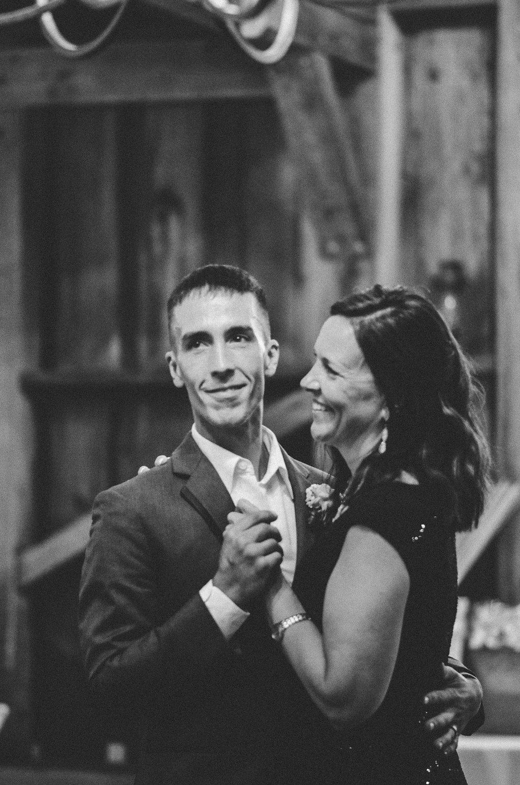 groom and mother wedding dance photo