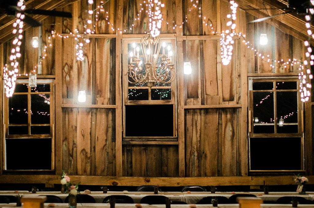 glasgow farm rustic country string lights photo