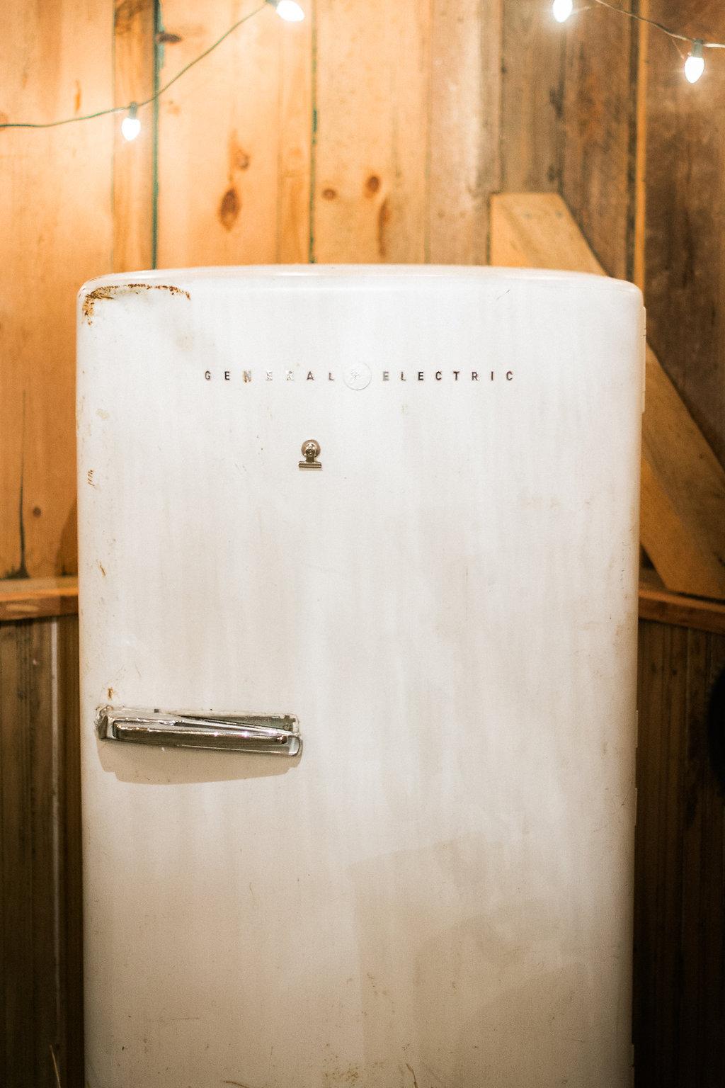 glasgow farm wedding general electric refrigerator photo