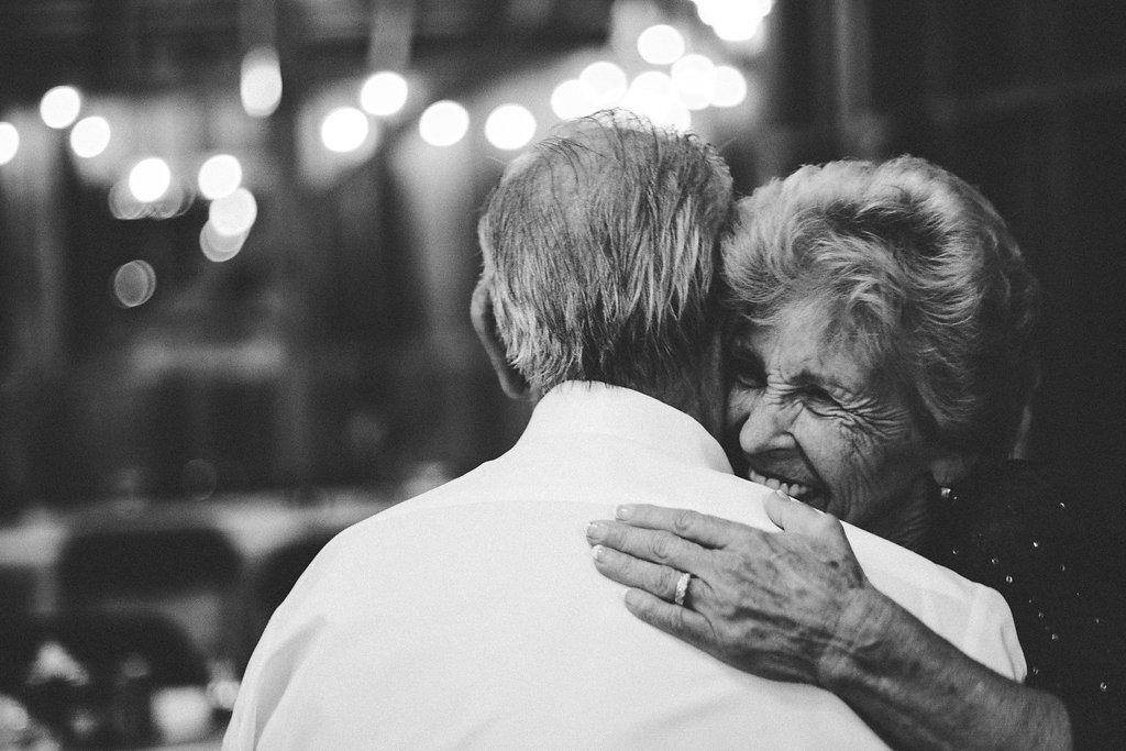 grandmother and grandfather dancing at wedding photo