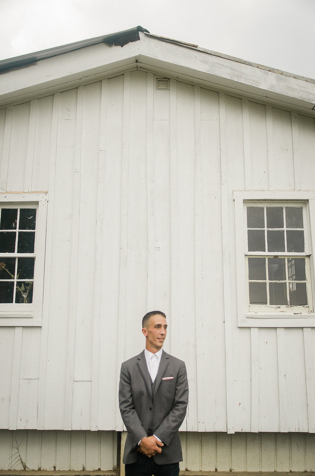 country rustic groom wedding portrait
