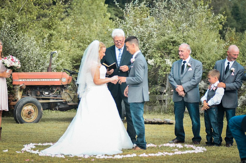 bride and groom ceremony photo