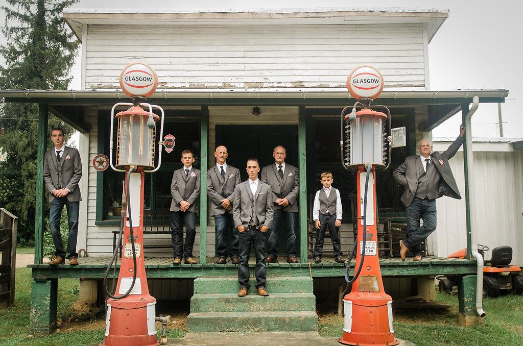 country groom and groomsmen photo