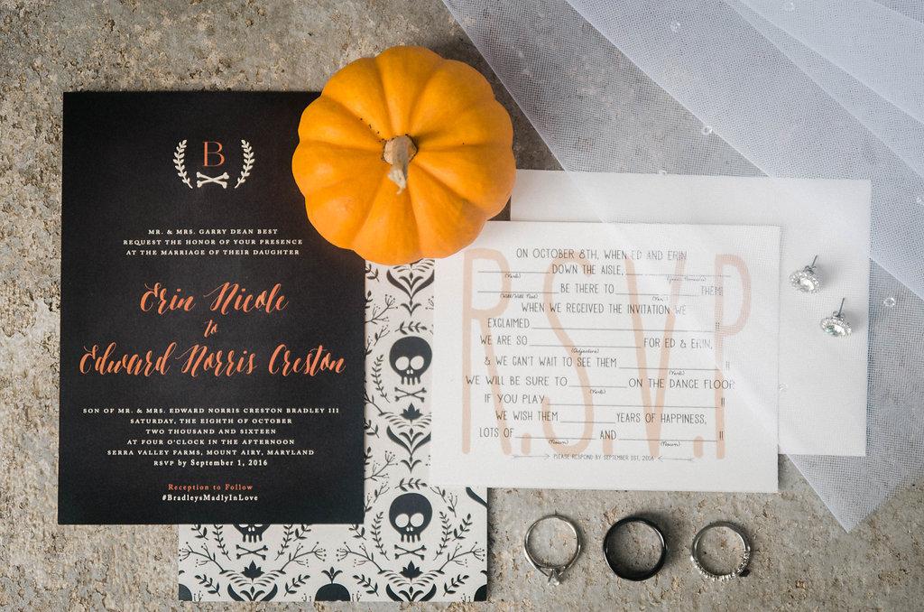 wedding details invitation pumpkin photo