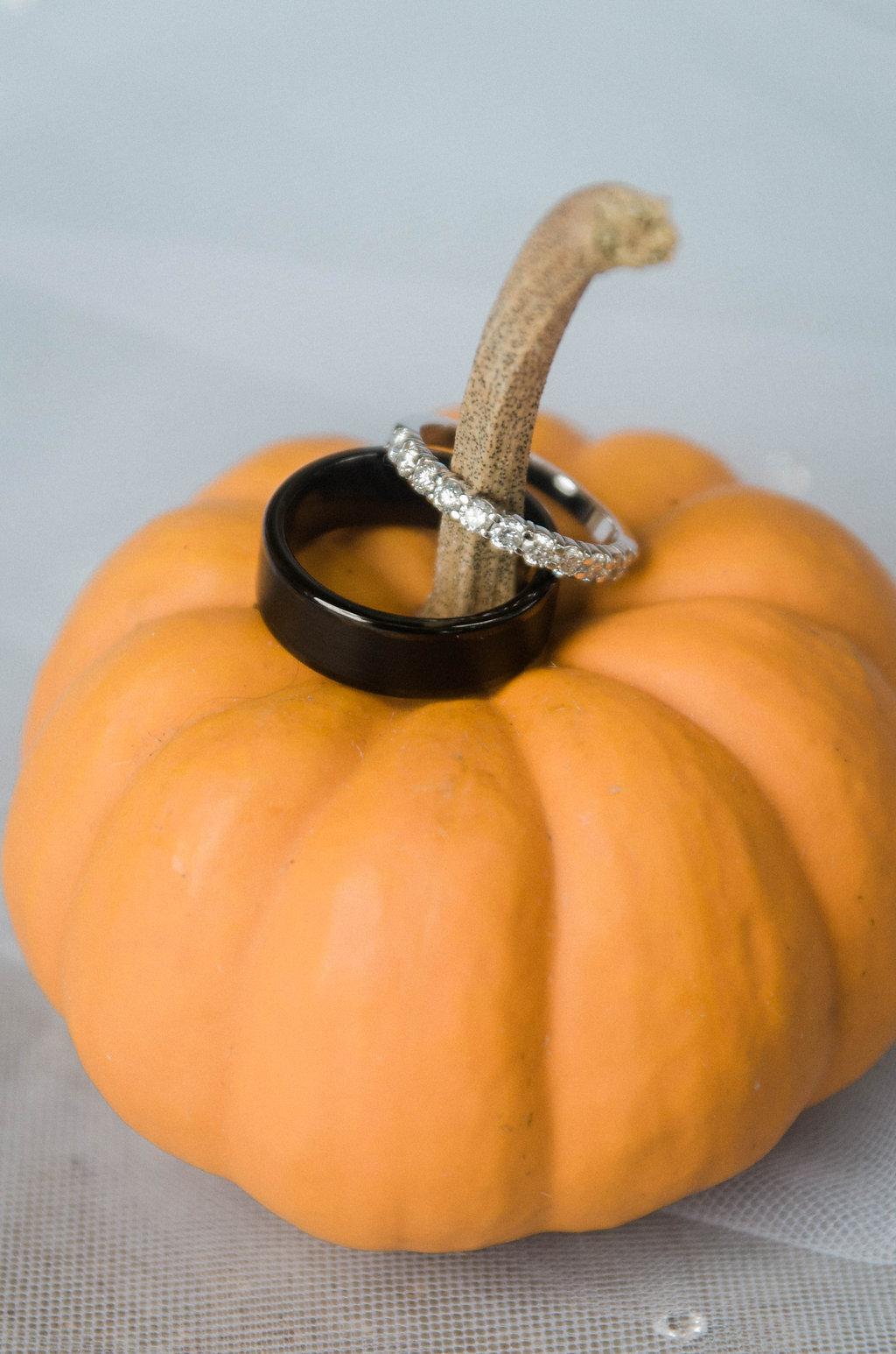 pumpkin wedding ring photo