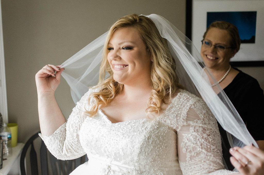 bride wedding dress getting ready photo